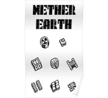 Nether Earth robot parts with title Poster