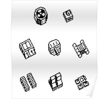 Nether Earth robot parts without title Poster