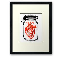 JAR OF HEART Framed Print