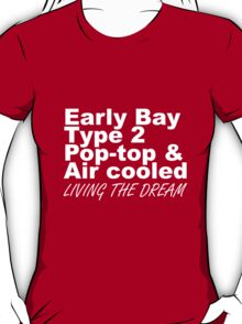 Early Bay Pop Type 2 Pop Top White T-Shirt