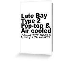 Late Bay Pop Type 2 Pop Top Black Greeting Card