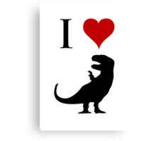 I Love Dinosaurs - T-Rex Canvas Print
