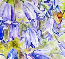 Bluebells & Butterfly by closetpainter