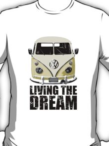 VW Camper Living The Dream Lemon T-Shirt