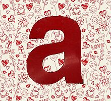Classic Red Letter A by Sean Brett