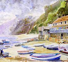 Clovelly Harbour, Devon by closetpainter