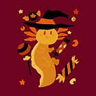Halloween Candy Axolotl by SaradaBoru