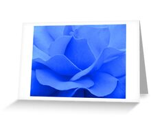 A blue rose © Greeting Card