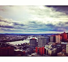 Portland, Oregon Skyline by omhafez