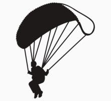Skydiving parachutist by Designzz