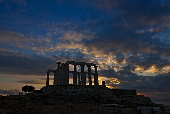Temple of Poseidon Archeological site by Konstantinos Arvanitopoulos