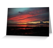 Enniscrone, in Red and Blue. Greeting Card