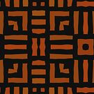 Warm African Tribal Design by Val  Brackenridge