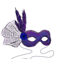 Masquerade Mask on white by Vannabee