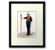 Royal Marines Drum Major Framed Print