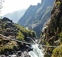 Nepalese bridge by binkistonem