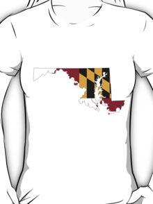 Maryland Flag [Blk] | State Line | SteezeFSC T-Shirt