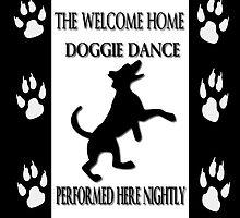 THE WELCOME HOME DOGGIE DANCE THROW PILLOW & TOTE BAG by ✿✿ Bonita ✿✿ ђєℓℓσ