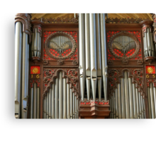 Exeter Cathedral Organ Pipes Canvas Print