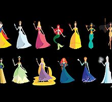 Origami - The Princesses by Paulway Chew