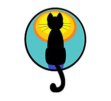 Sunrise Sunset Cat by Jean Gregory  Evans