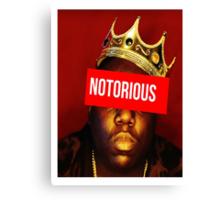 "Biggie ""Notorious King"" Supreme  Canvas Print"