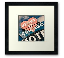 Heart of Chicago 1 Framed Print