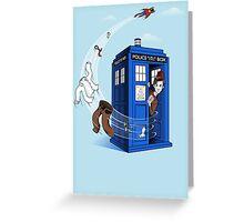 Superman's TARDIS (Iphonecase) Greeting Card