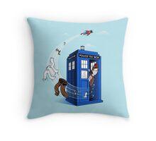 Superman's TARDIS (Iphonecase) Throw Pillow