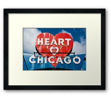 Chicago's Heart Motel Framed Print