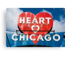 Chicago's Heart Motel Canvas Print