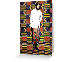 Mos Def in Kente Cloth Greeting Card