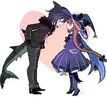 Wadanohara - Shark Boyfriend by marburusu
