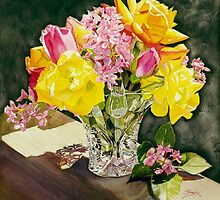 """Roses in Crystal II "" by Judy  Koenig"