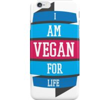 VEGAN FOR LIFE iPhone Case/Skin