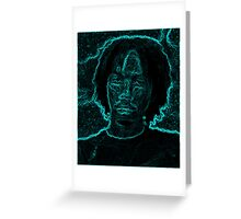 Steven Blue Glow Greeting Card