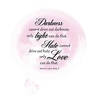 Martin Luther King Jr. Light Love quote by boothart