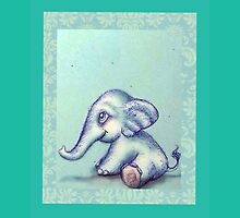 Pretty Elephant by Angie Oviedo