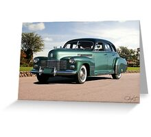 1941 Cadillac Series 61 Sedan Greeting Card