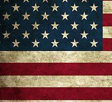 Vintage American Flag by peterkoesveld