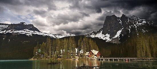 Sunset At The Emerald Lake.2 by Alex Preiss