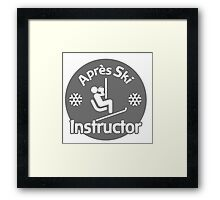 Après Ski Instructor Framed Print