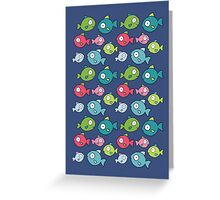 Little fishes Greeting Card