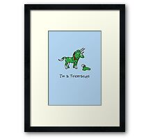 I'm A Triceratops (Unicorn + Narwhals) Framed Print