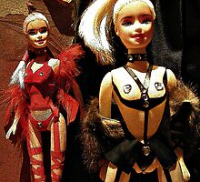 Nasty Barbies in Red and Black by PrivateVices