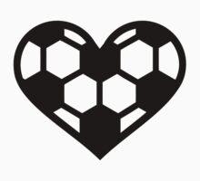 Soccer football heart Kids Clothes