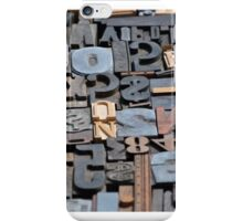 Typeset iPhone Case/Skin