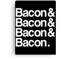 Bacon And Dark Canvas Print