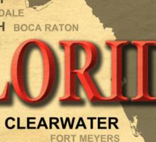Florida State Pride Map Silhouette  Sticker