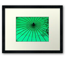 Un  parasol de papier ^ Framed Print